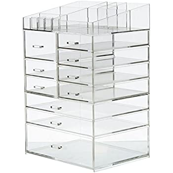 Cq acrylic Extra Large 8 Tier Clear Acrylic Cosmetic Makeup Storage Cube Organizer With 10 Drawers  sc 1 st  Amazon.com & Amazon.com: Cq acrylic Extra Large 8 Tier Clear Acrylic Cosmetic ...