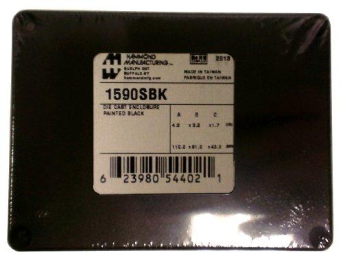 Enclosures, Boxes, & Cases ALUM 4.33LX3.23W BLK