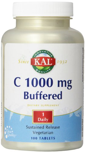 - KAL Vitamin C Buffered Sustained Release Tablets, 1000 mg, 100 Count