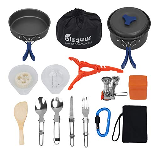Bisgear 17Pcs Camping Cookware