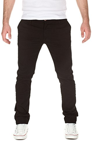 Yazubi Herren Chino Hose, Modell Dustin, by YZB Jeans , black (2000), W34/L32