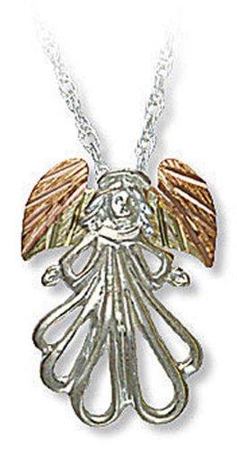 Landstroms Sterling Black Hills Silver Angel Pendant Necklace, 18
