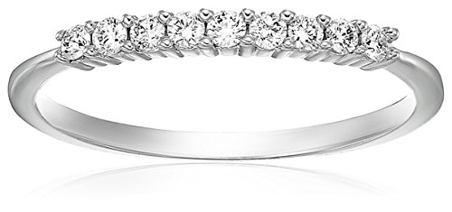 Vir Jewels 1/5 cttw Diamond Wedding Band in 14K White Gold Prong Set Size 6