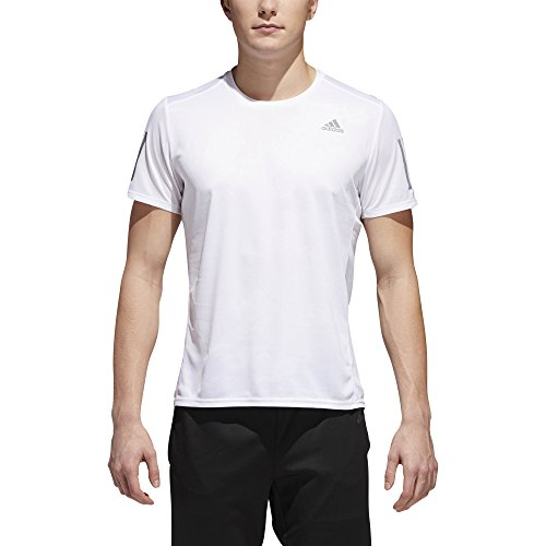 Adidas Short Sleeve Tee - adidas Men's Running Response Short Sleeve Tee, White, Medium