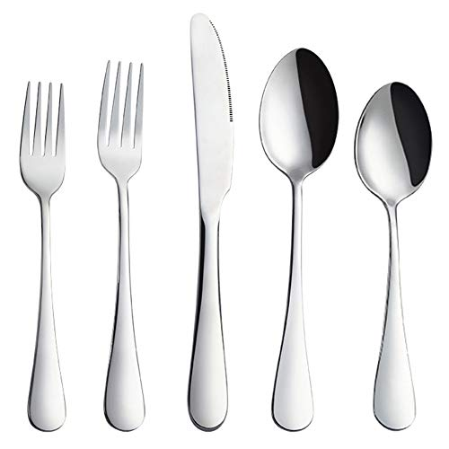 Black Flatware Set,AOOSY Matte Black Plated 18/10 Stainless Steel Dinnerware Flatware Sets (4 sets, A Flatware set for 4 People)