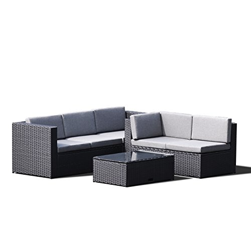 Br Thult Corner Sofa Bed Review: Sky Patio B1035-BR 4 Pieces Outdoor Furniture Complete