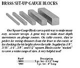 Whiteside 9810 Brass Set Up Gauges, 5 Piece Set