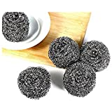Cycene Extra Large Stainless Steel Sponges Scrubbers 50g, Set of 12