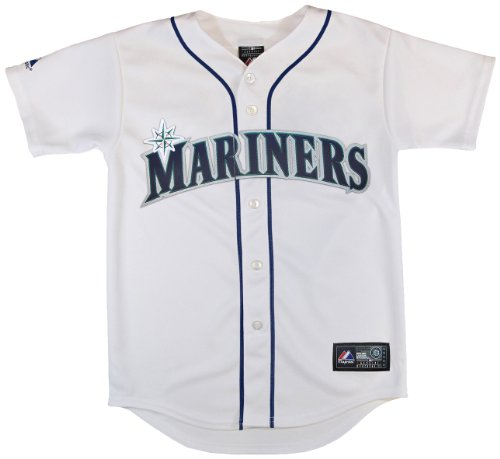 MLB Seattle Mariners Boy's Ackley Replica Jersey, White, 2 Toddler