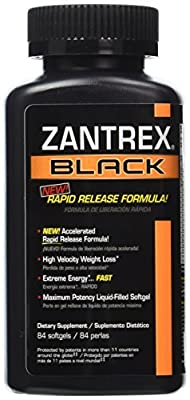 Zantrex-3 Black Rapid Release 84 Soft Gels - 1 Bottle by Zoller Laboratories by Zoller