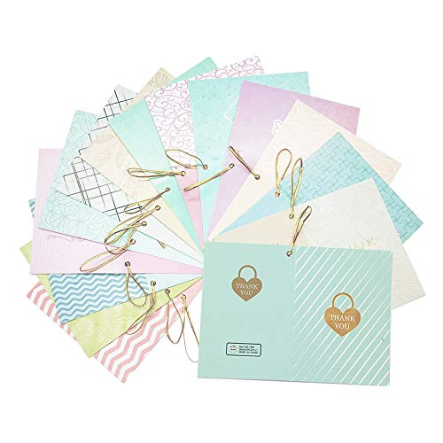 128 PCS Creative Thank You Cards,Thank you Card in 16 Different Styles Blank Thank you Cards with Gold String,Perfect Thank You Cards for Wedding, Baby Shower, Bridal Shower,Shop Thank You Cards ()