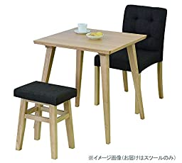 AZUMAYA Home Wooden Low Stool Textile Fabric Seat Red Chair CL-785CRD