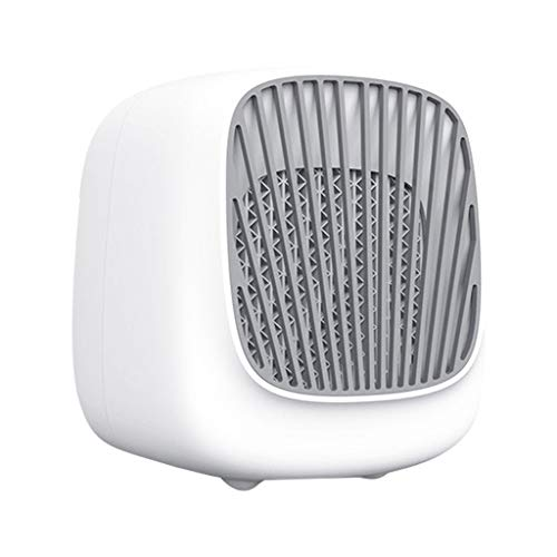 jiumoji Portable Mini Air Conditioning ABS Fan Household Refrigerator Desktop Cooler in Dormitory,Bedroom (White,140X155X175mm) ()