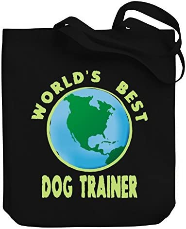 Valentine Herty Shopping bag WORLDS BEST Dog Trainer Canvas Tote Bag