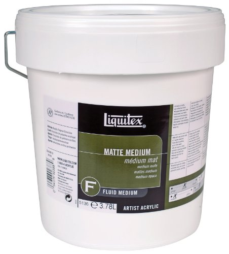 128 Ounce Gallon (Liquitex Professional Matte Fluid Medium, 128-oz (gallon))
