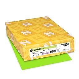 "Astrobrights Color Paper, 8.5"" x 11"", 24 lb / 89 gsm, Vulcan Green, 500 Sheets"