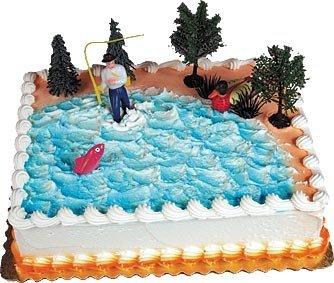 Cake Decorating Kit CupCake Decorating Kit Sports Toys (Fishing Cake -