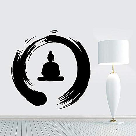 Zen círculo con Buda tatuajes de pared de vinilo Sticker Art Decor ...