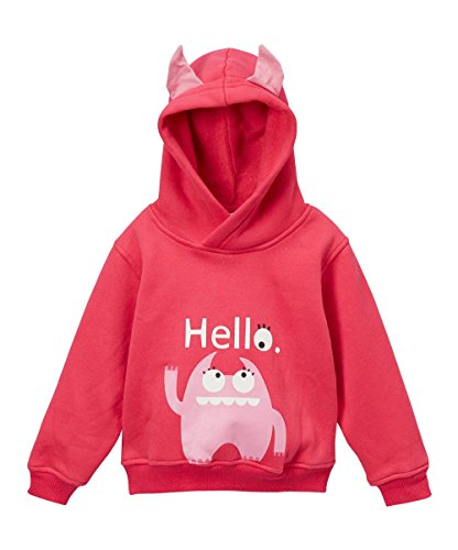 Doodle Pants - Pink Monster Hoodie with Horns - 3T -