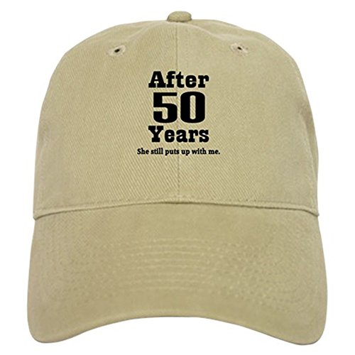 CafePress - 50th Anniversary Funny Quote Cap - Baseball Cap with Adjustable Closure, Unique Printed Baseball Hat