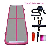 Star Paraselene 10ft/13.3ft/16.7ft/20ft Inflatable Gymnastics Airtrack Tumbling Mat Air Track Floor Mats with Electric Air Pump for Home Use/Training/Cheerleading/Beach/Park and Water