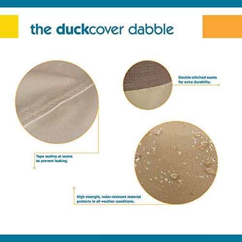 Duck Covers Elegant Double Patio Chaise Lounge Cover, 82-Inch