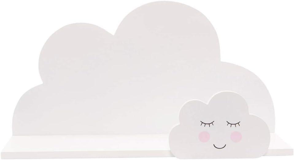 Sass & Belle Sweet Dreams - Estante con diseño de nubes, color blanco