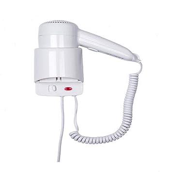 Secador de pelo secador hotel baño ducha dormitorio montado en la pared soplador 1200 W (blanco): Amazon.es: Belleza