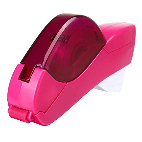 (Tape Dispenser 12/19mm One Press Tape Dispenser Handheld Adhesive Holder Packaging Cutter Tools Sealing Machine Office School Supplies 2 Colors Purple)