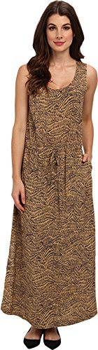 Two by Vince Camuto Women's D S Squiggle Graphic Maxi Dress, New Camel, X-Small
