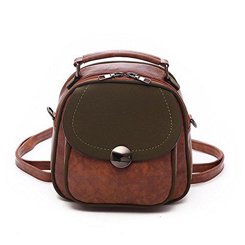 Allhqfashion Women Pu Shoulder Bags Casual Totestyle Shopping Bags, Brown Fbubbd180778