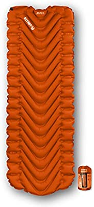 KLYMIT Static V Sleeping Pad, Lightweight, Outdoor Sleep Comfort for Backpacking, Best Camping Gear, Great for