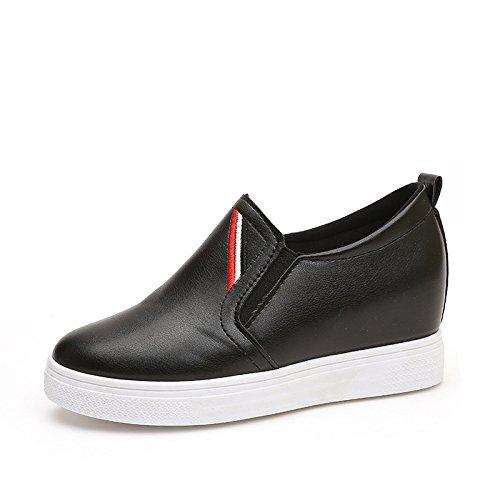 spessa 40 nero scarpe piedi Fase uno pigrizia aumentando la scarpe qnFwt6xtfz