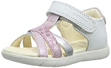 Geox B Sandal ALUL Girl D, Sandalias de Punta Descubierta para Niñas, Blanco (White/Pink C0406), 24 EU