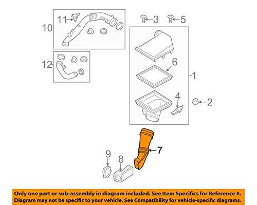 - BMW OEM 11-16 535i xDrive 3.0L-L6 Air Cleaner Intake-Tube Duct Hose 13717582310