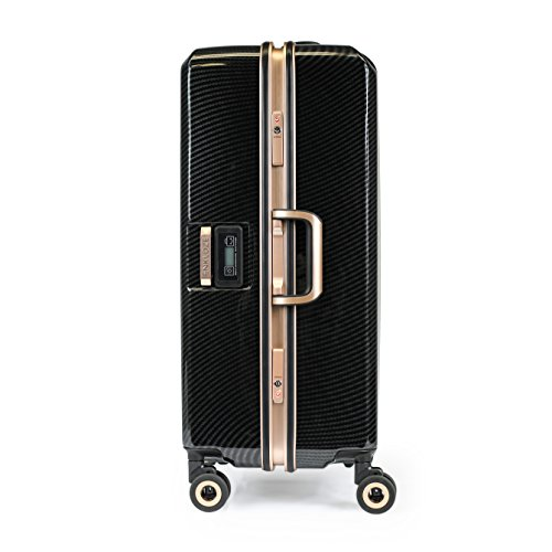 """Price comparison product image Enkloze X1 Weight Watcher Suitcase Zipperless Self Weighing Carbon Black / Rose Gold TSA Approved 100% PC Carbon (28"""")"""
