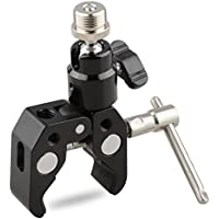 CAMVATE Crab Clamp Articulated 1/4 Mini Ball Head for Microphones