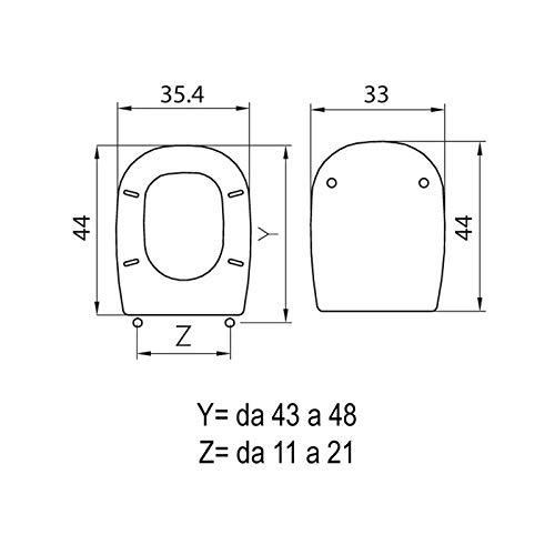 Copriwater compatibile serie Square di Pozzi Ginori