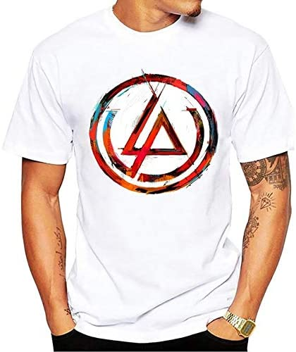 Camiseta de Rock Linkin Park blanca.