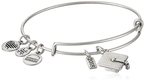 Alex and Ani Graduation Cap 2018, EWB, Rafaelian Silver, Expandable