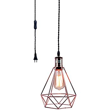 Fine Diy Industrial Vintage Wire Cage Ceiling Pendant Light Yikege Wiring 101 Archstreekradiomeanderfmnl
