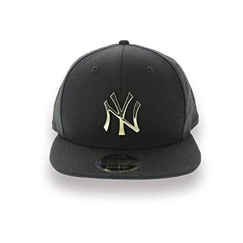 New Era New York Yankees Metal Logo 950 9Fifty Original Fit Snapback Hat (Gold (Era Metal)