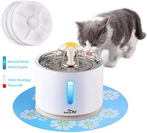 Beacon Pet White is the best Cat Water Dispenser? Our review at cattime.com uncovers all pros and cons.