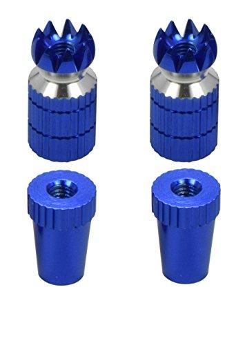RC Transmitter Stick Ends, Blue Aluminum, Futaba / Spektrum