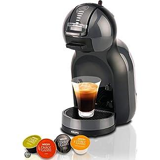 Krups Nescafé Dolce Gusto Mini Me KP1208 Kapsel Kaffeemaschine (für heiße und kalte Getränke, 15 bar Pumpendruck, automatische Wasserdosierung, Flow-Stop Technologie, 0,8 l Wassertank) anthrazit/grau 7