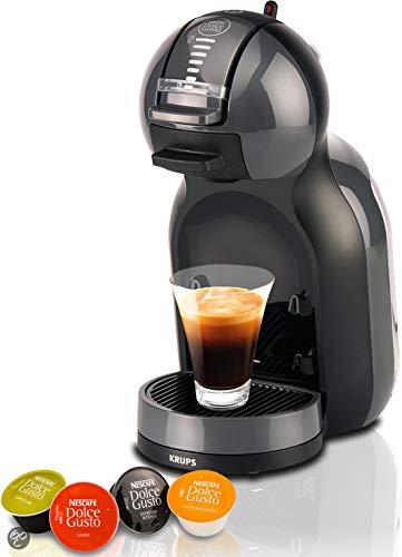 Krups Dolce Gusto Mini Me KP1208 - Cafetera de cápsulas, 15 bares de presión, color negro y gris