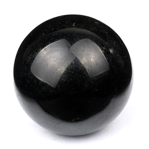 Banshren® Natural Carved 30mm Tumbled Black Obsidian Sphere Ball Healing Crystal
