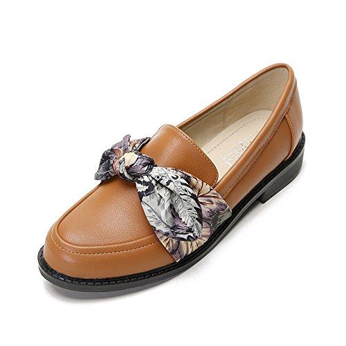 piatto fondo selvatici scarpe donna di scarpe lady scarpe unico scuro College piccole cuoio Marrone di scarpe di wg7RY