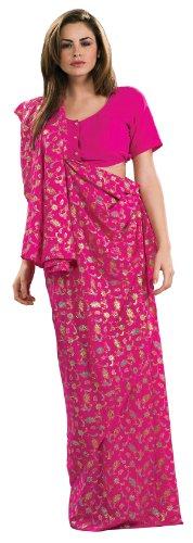 Rubie's Costume Pink Sari Costume, Standard (Pink Indian Sari Adult Costume)