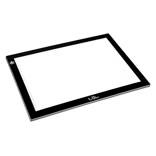 A4 Portable LED Light Box Trace, LITENERGY Light Pad USB Power LED Artcraft Tracing Light Table for Artists,Drawing, Sketching, Animation (Best Lightbox For Calligraphy)